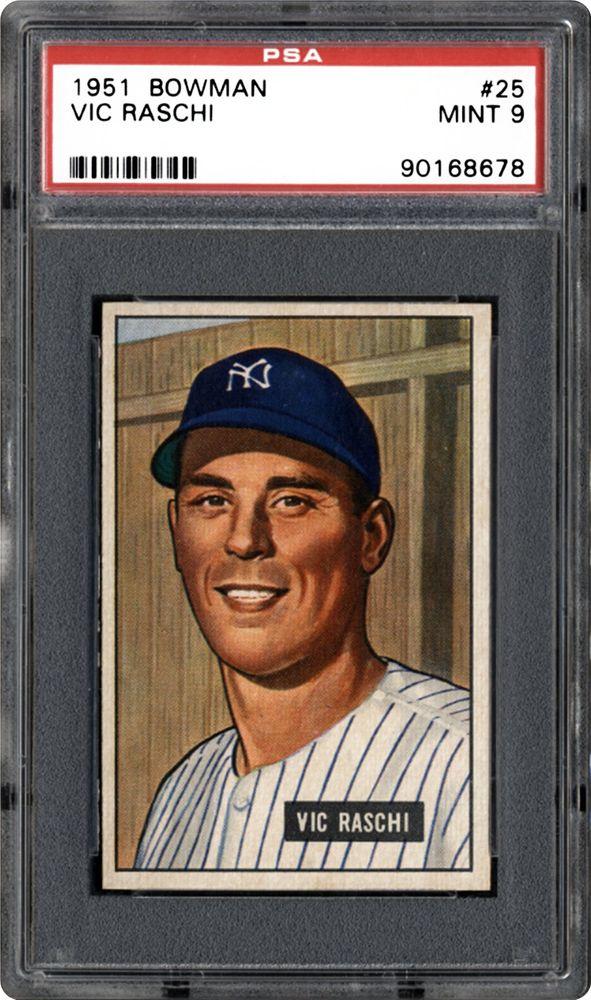 1951 Bowman Vic Raschi