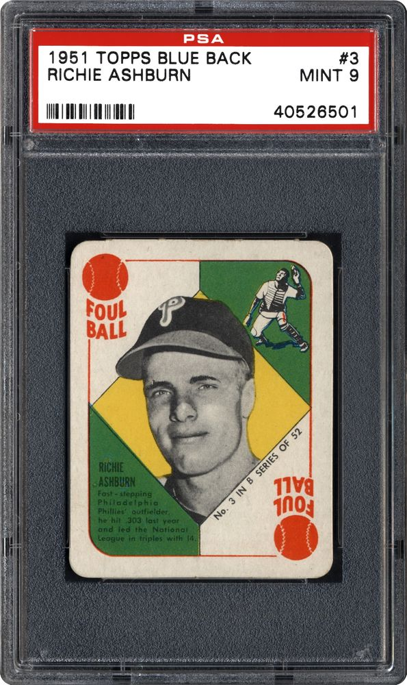 1951 Topps Blue Backs Baseball Cards Psa Smr Price Guide