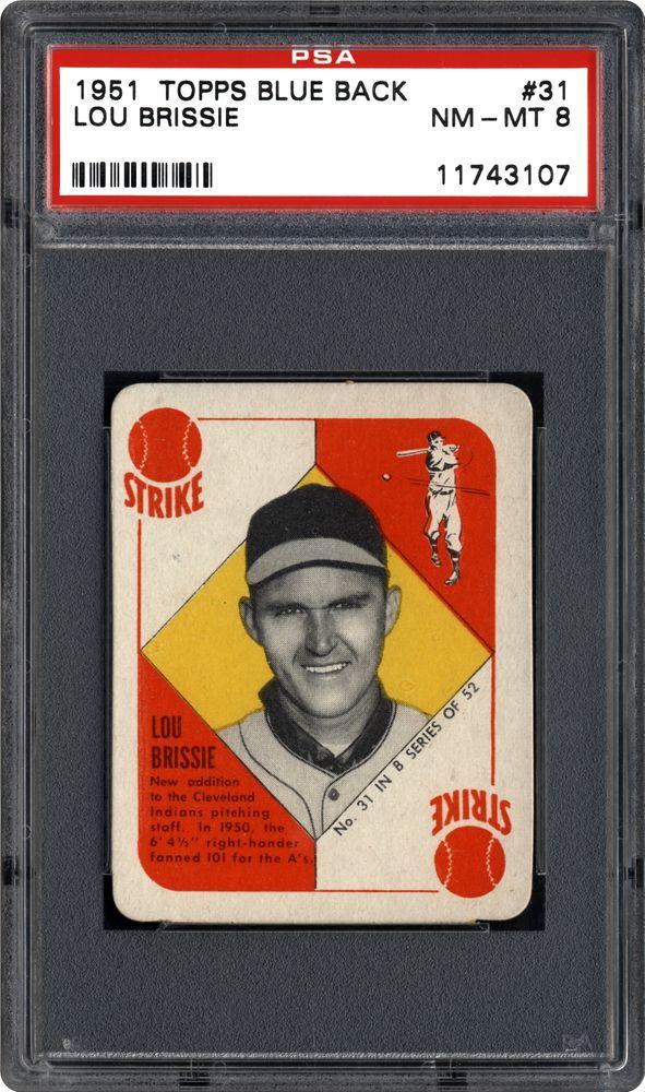 1951 Topps Blue Back Lou Brissie Psa Cardfacts