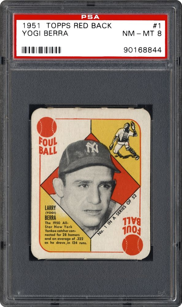 Baseball Cards 1951 Topps Red Back Psa Cardfacts