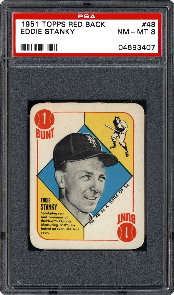 1951 Topps Red Back Eddie Stanky Psa Cardfacts