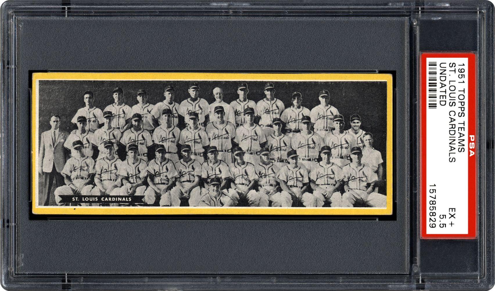 Baseball Cards 1951 Topps Teams Psa Cardfacts