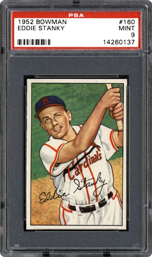 1952 Bowman Eddie Stanky Psa Cardfacts