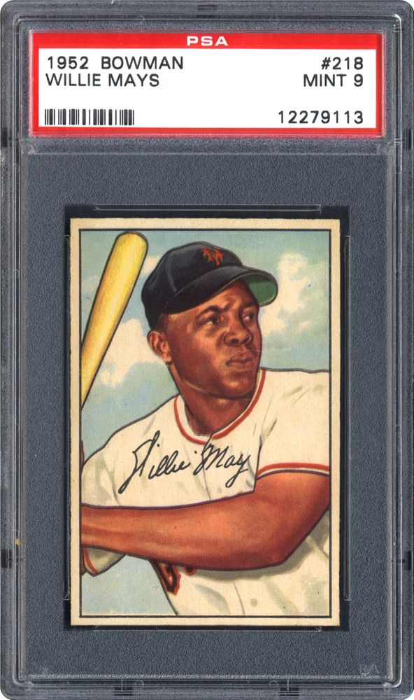 1952 Bowman Willie Mays Psa Cardfacts