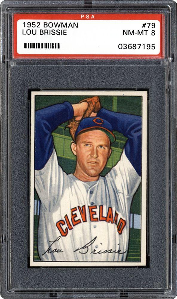1952 Bowman Lou Brissie Psa Cardfacts