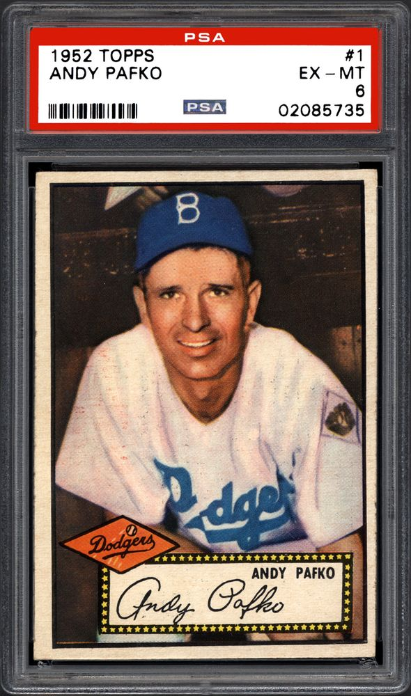 1952 Topps Andy Pafko Psa Cardfacts