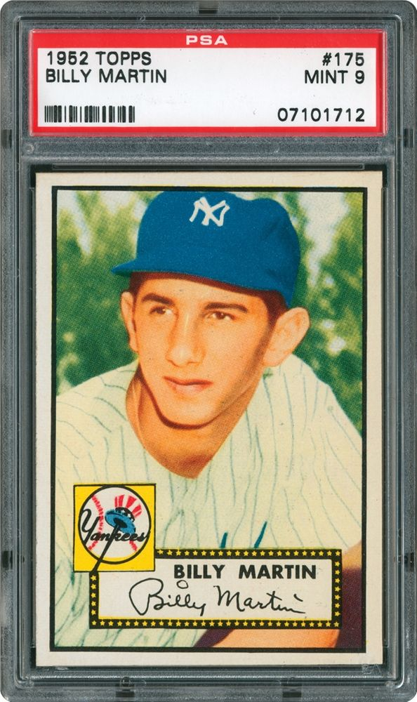 1952 Topps Billy Martin Psa Cardfacts