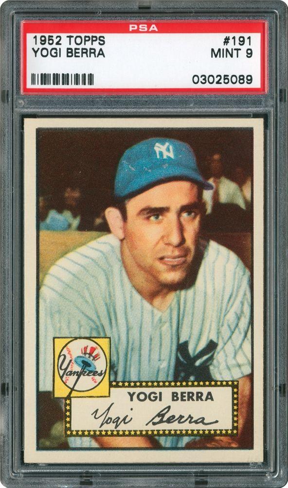 1952 Topps Yogi Berra Psa Cardfacts