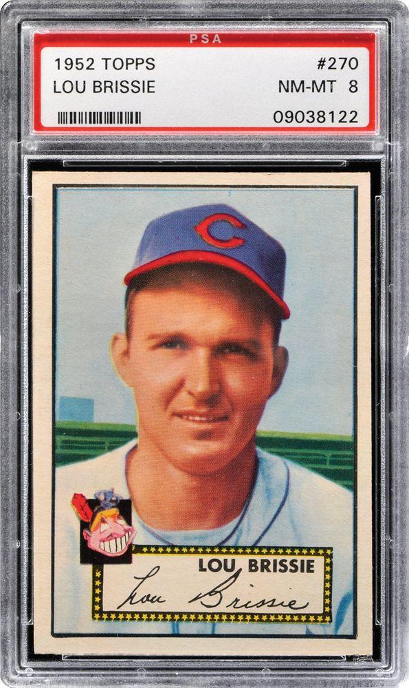 1952 Topps Lou Brissie Psa Cardfacts