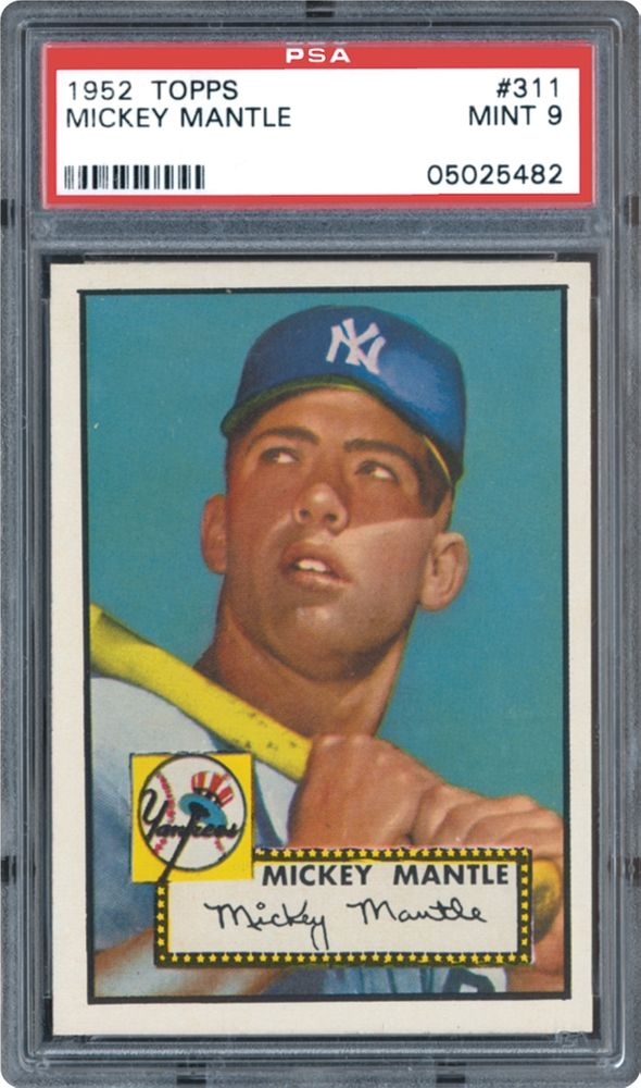 1952 Topps Mickey Mantle Psa Cardfacts