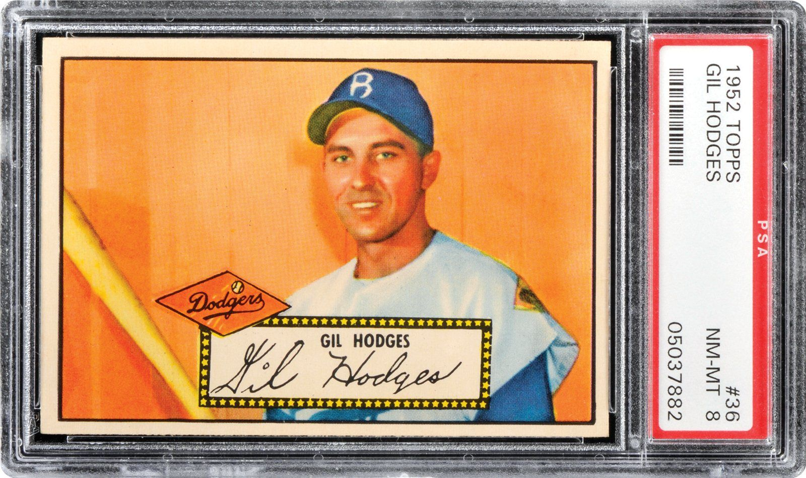 1952 Topps Gil Hodges Psa Cardfacts