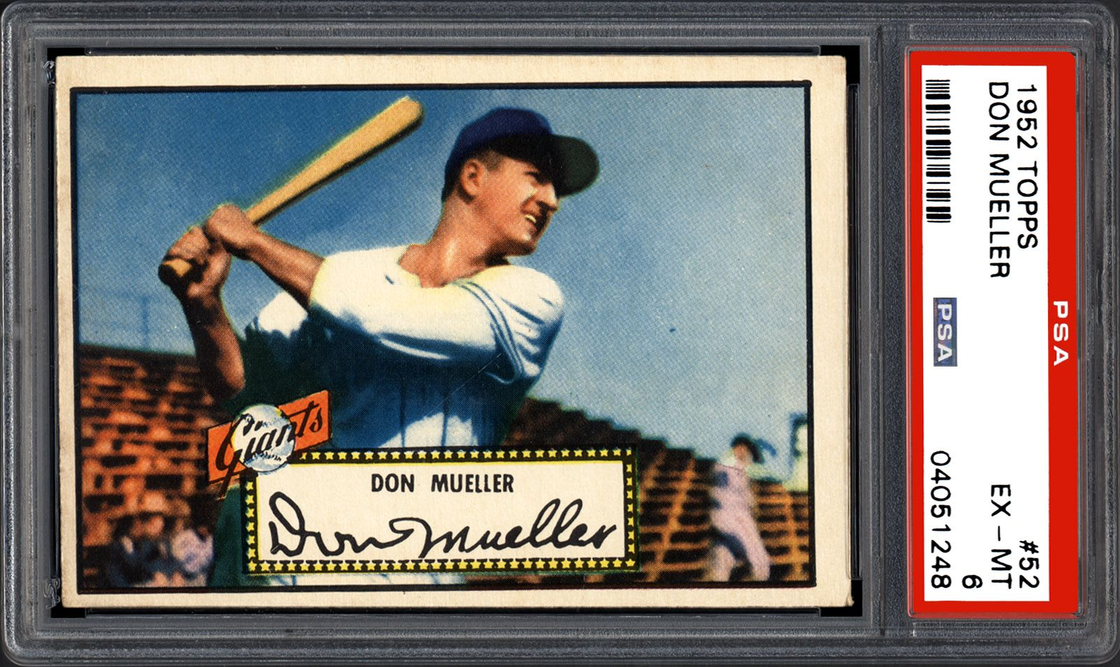 1952 Topps Don Mueller Psa Cardfacts