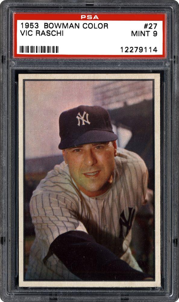 1953 Bowman Color Vic Raschi