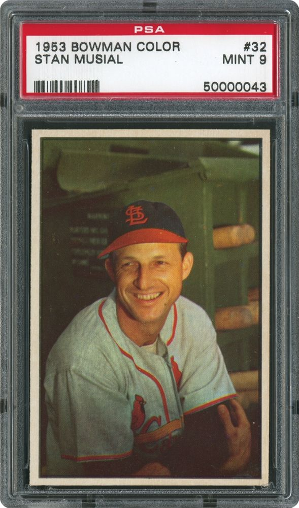 1953 Bowman Color Stan Musial Psa Cardfacts