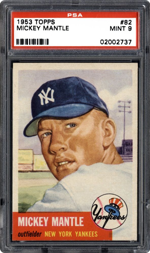 1953 Topps Mickey Mantle Psa Cardfacts