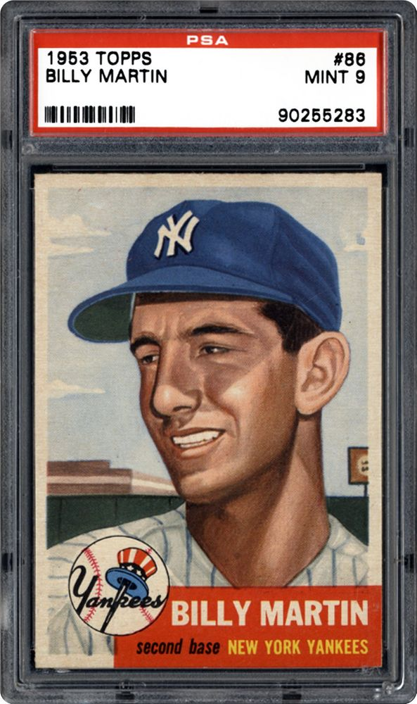 1953 Topps Billy Martin Psa Cardfacts