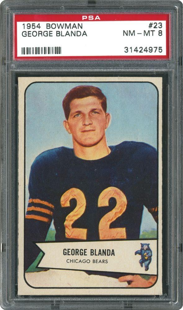 huge discount cfcfa 612e4 1954 Bowman George Blanda | PSA CardFacts™