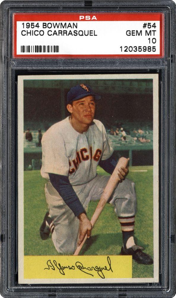 Chico Carrasquel 1954 Bowman Chico Carrasquel PSA CardFacts