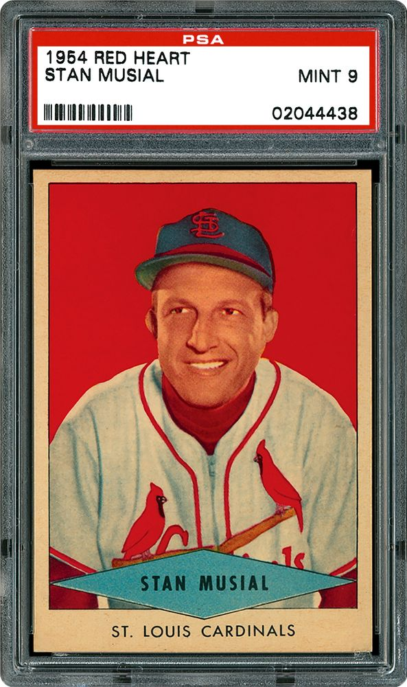 Baseball Cards 1954 Red Heart Psa Cardfacts