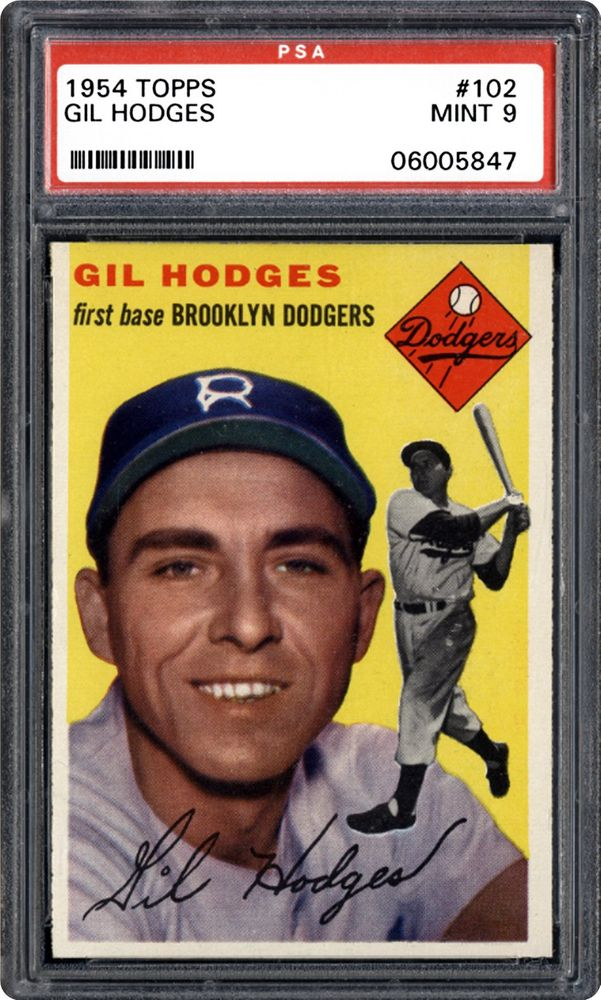 1954 Topps Gil Hodges Psa Cardfacts