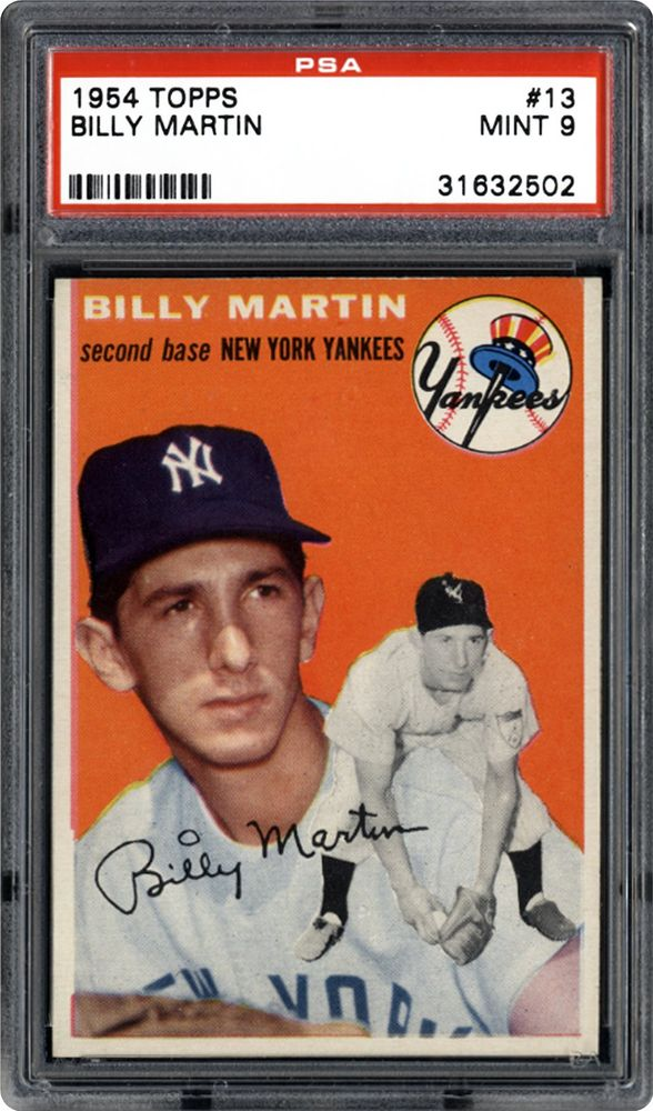 1954 Topps Billy Martin Psa Cardfacts