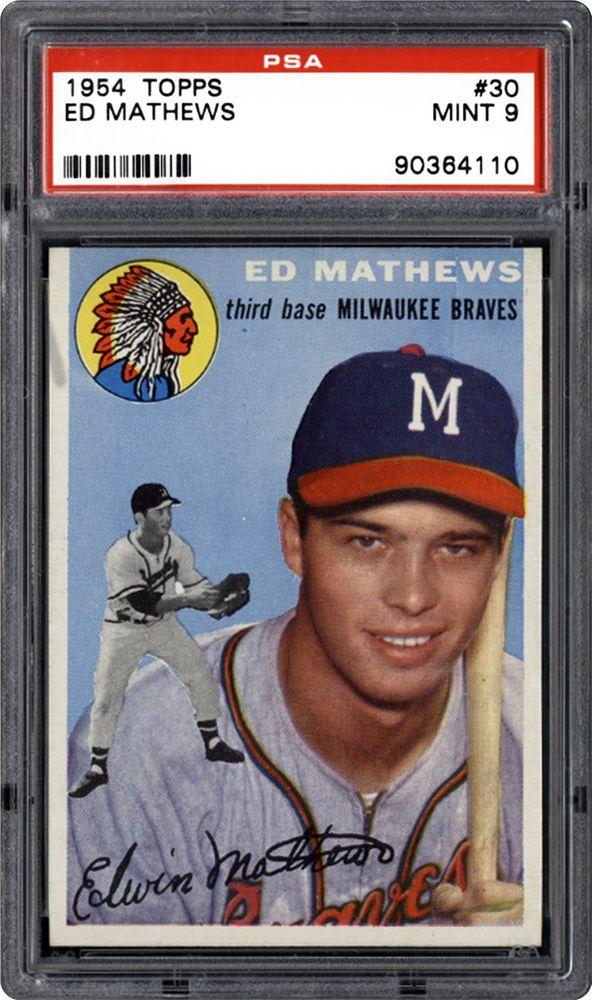 1954 Topps Ed Mathews Psa Cardfacts