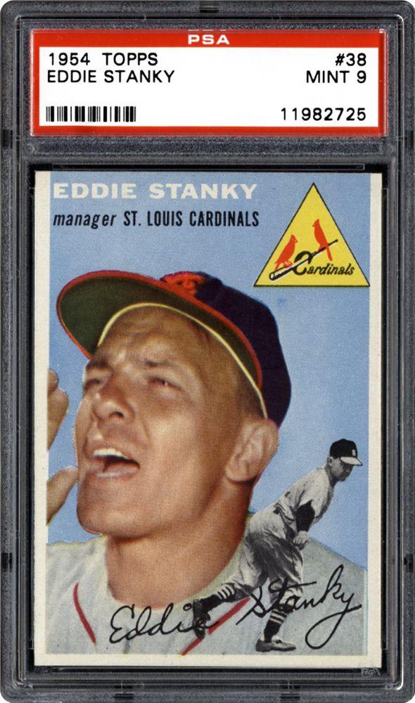 1954 Topps Eddie Stanky Psa Cardfacts