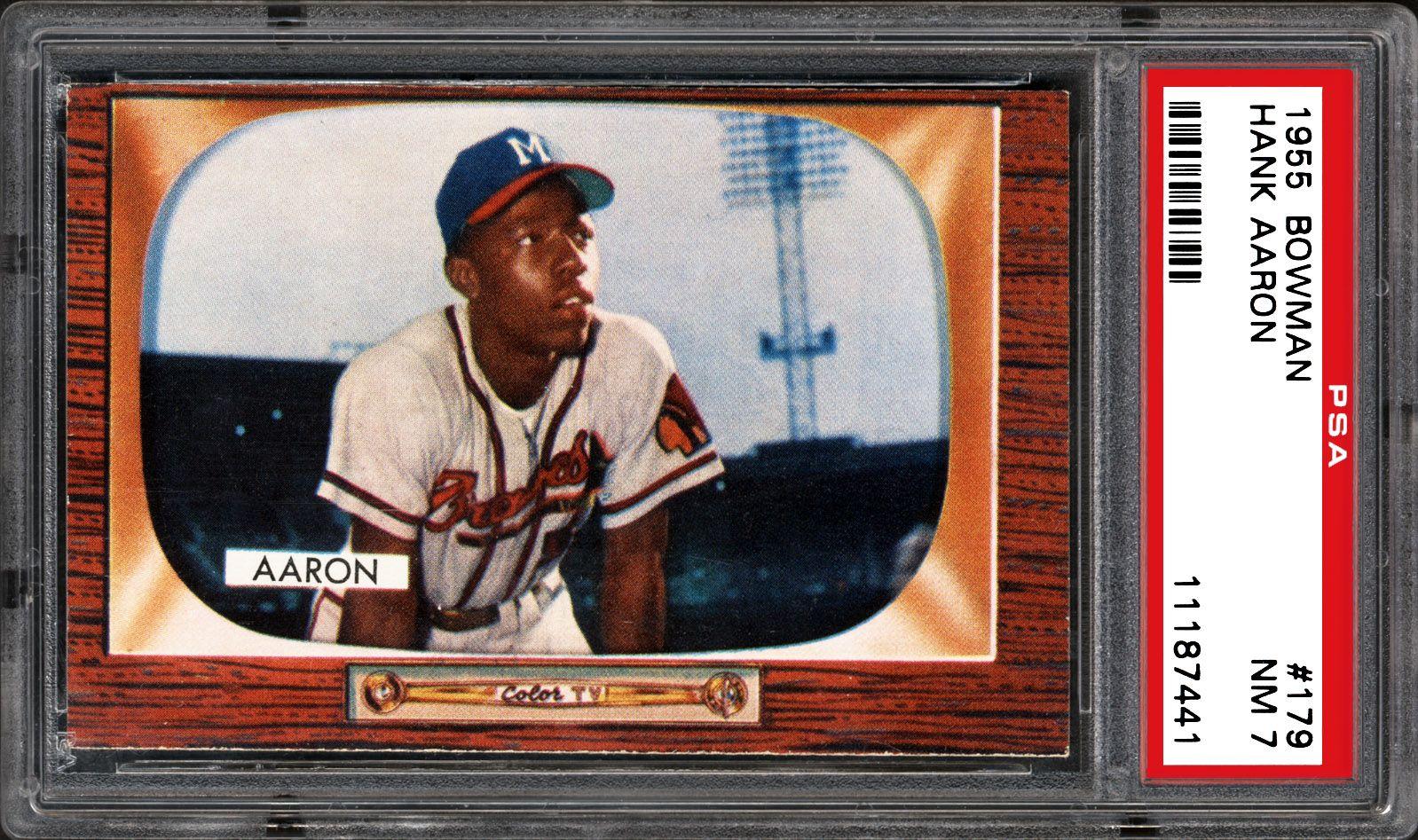 1955 Bowman Hank Aaron Psa Cardfacts