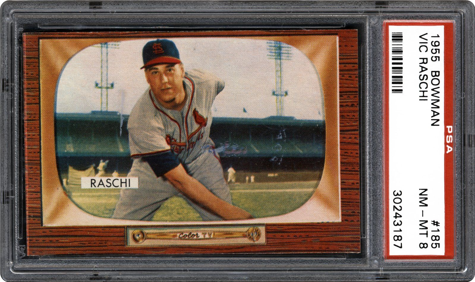 1955 Bowman Vic Raschi
