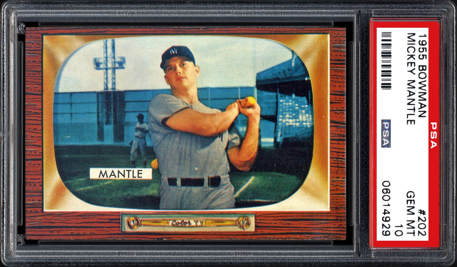 1955 Bowman Mickey Mantle Psa Cardfacts