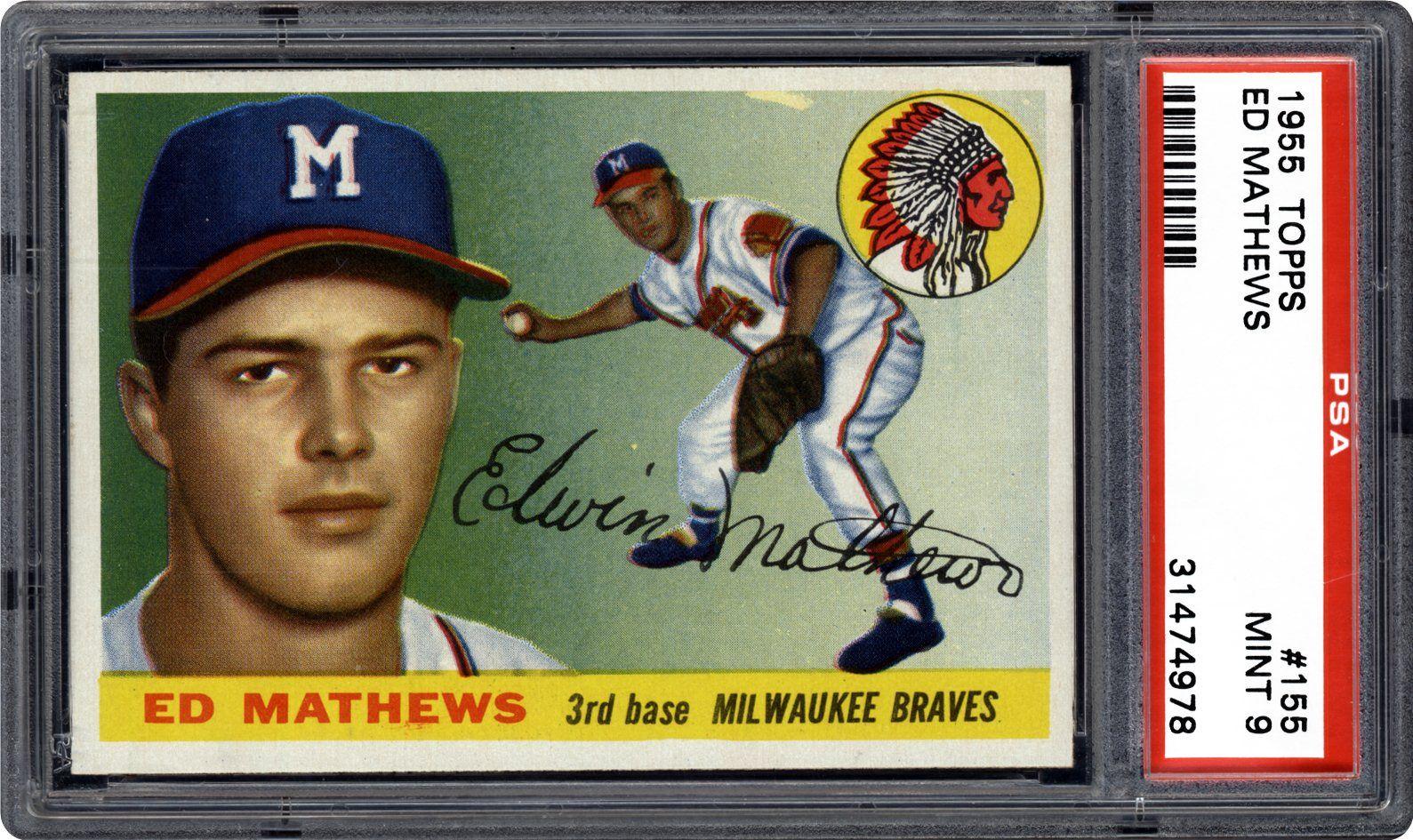 1955 Topps Ed Mathews Psa Cardfacts
