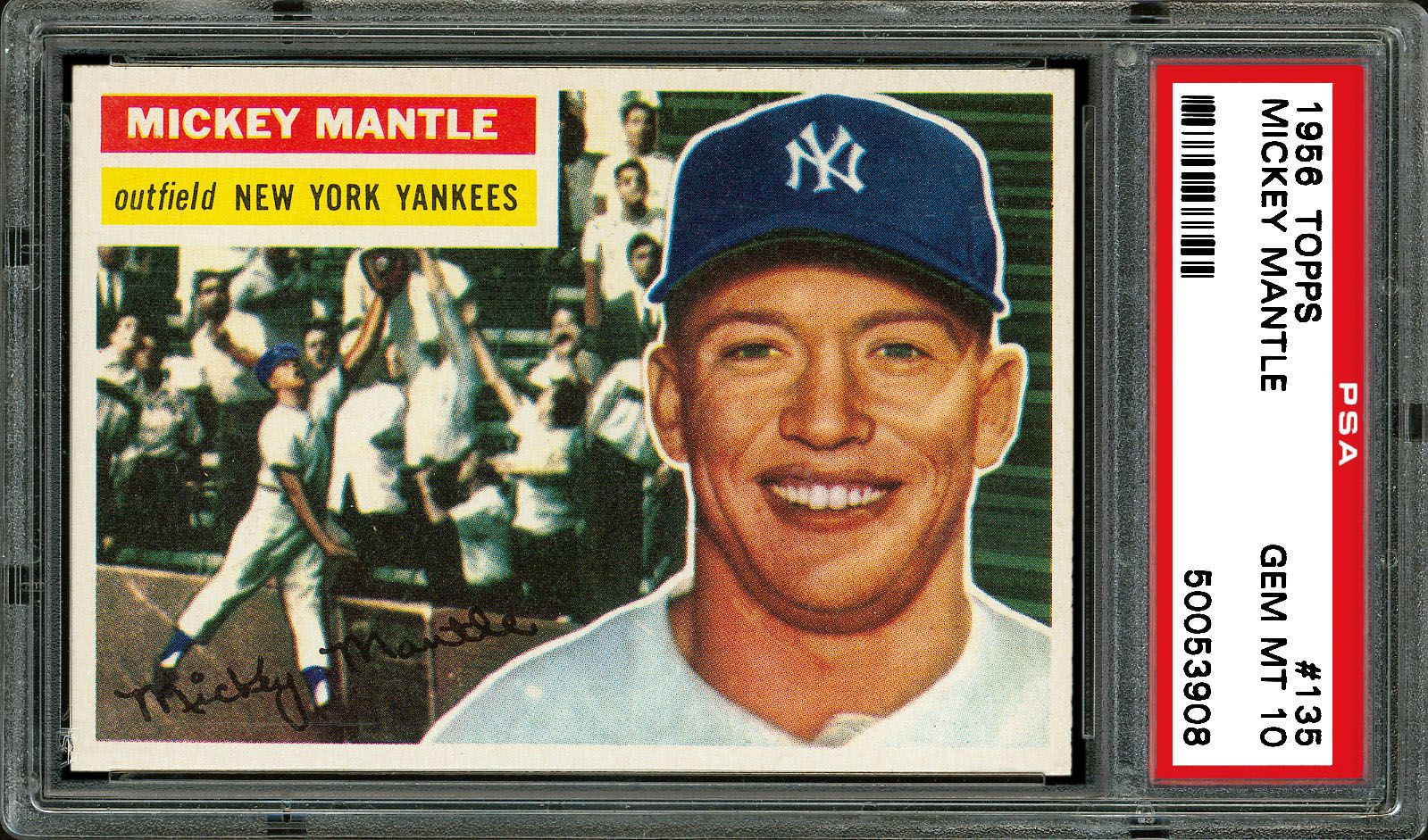 1956 Topps Mickey Mantle Psa Cardfacts