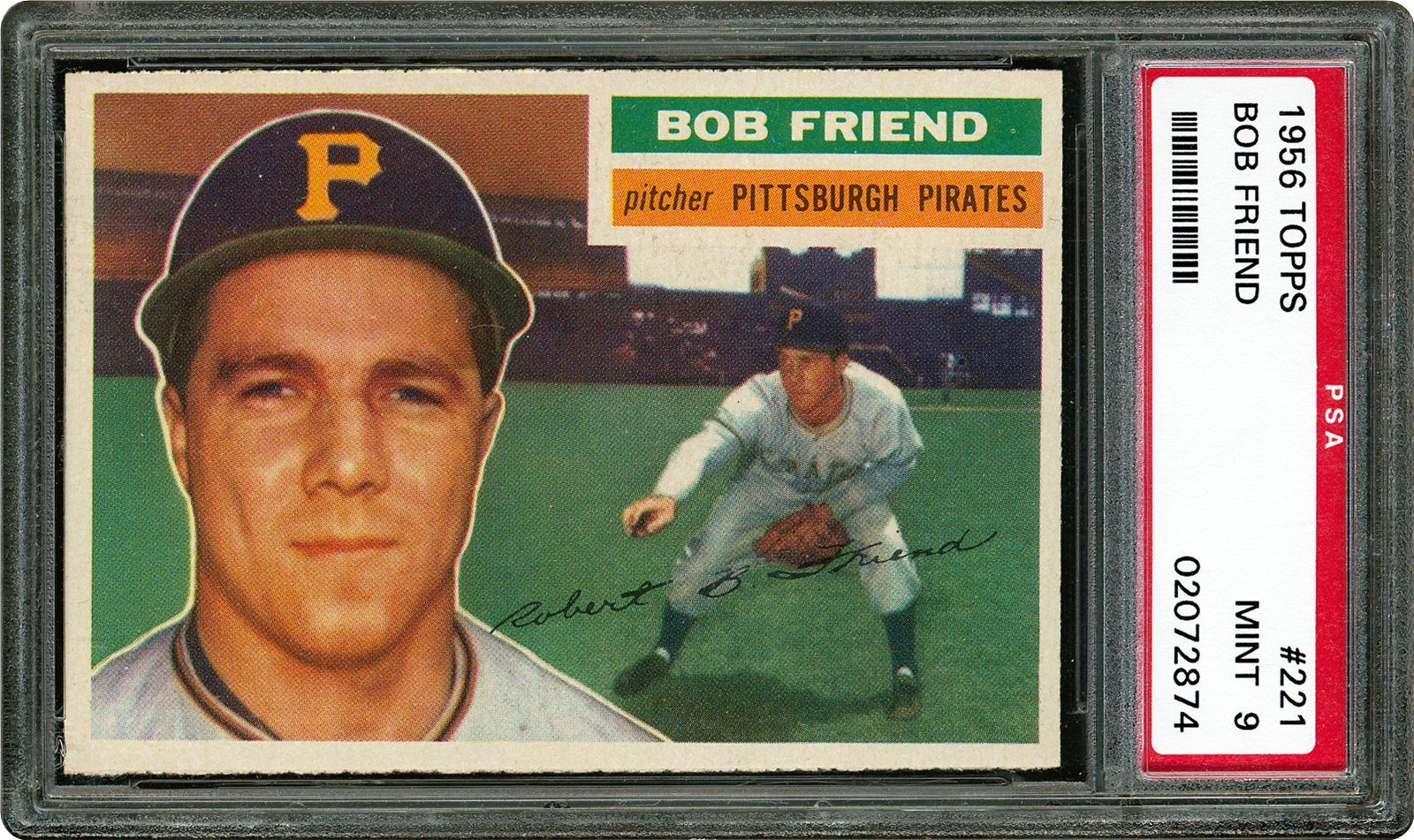 1956 Topps Bob Friend Psa Cardfacts