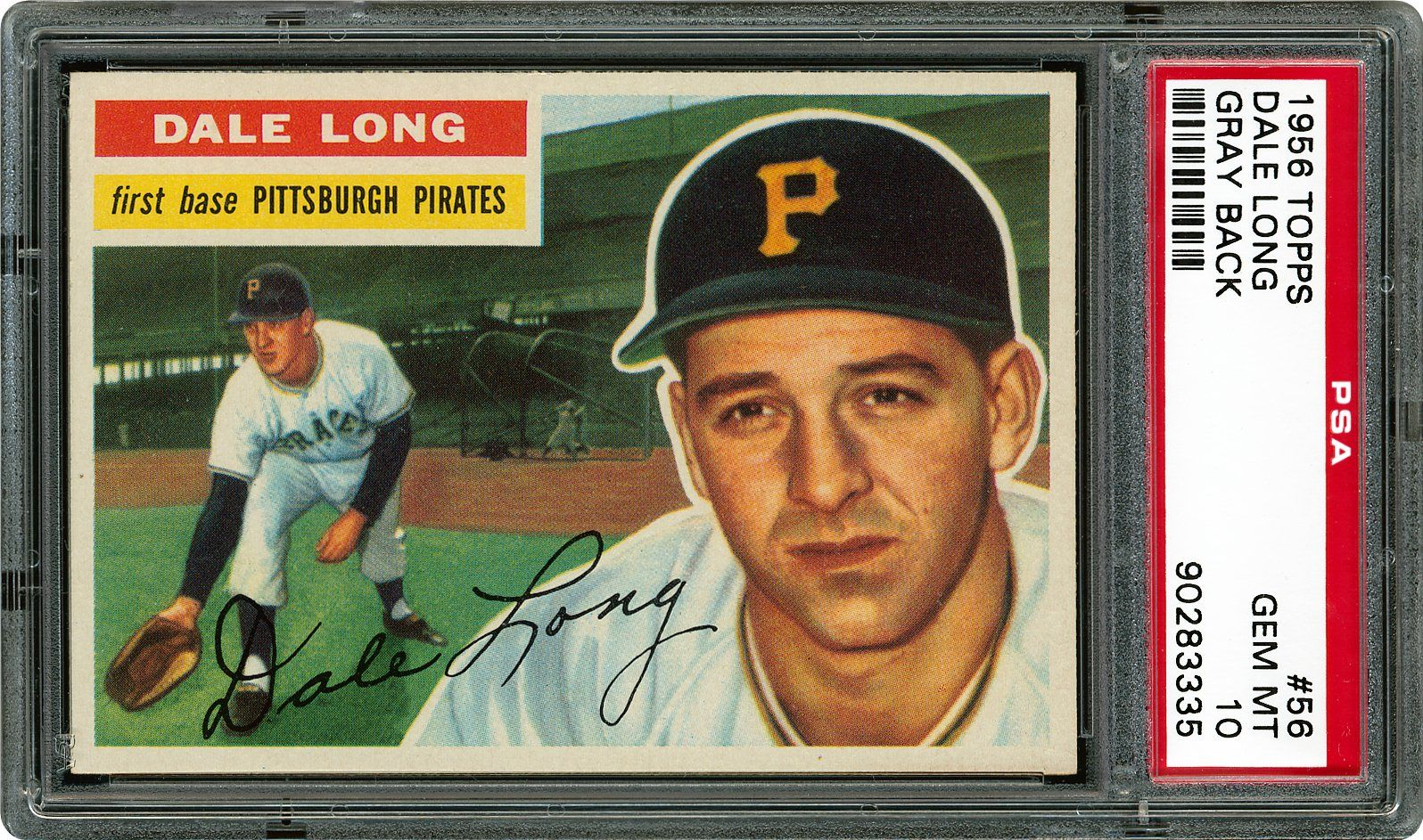 1956 Topps Dale Long Psa Cardfacts