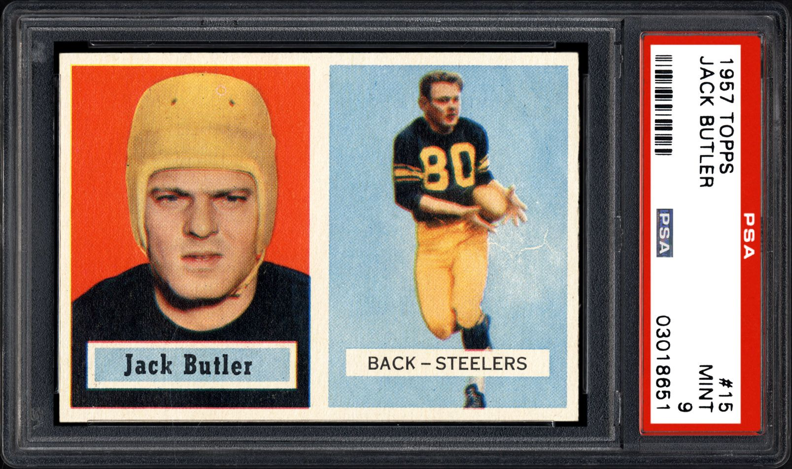purchase cheap ae426 51ecd 1957 Topps Jack Butler | PSA CardFacts™