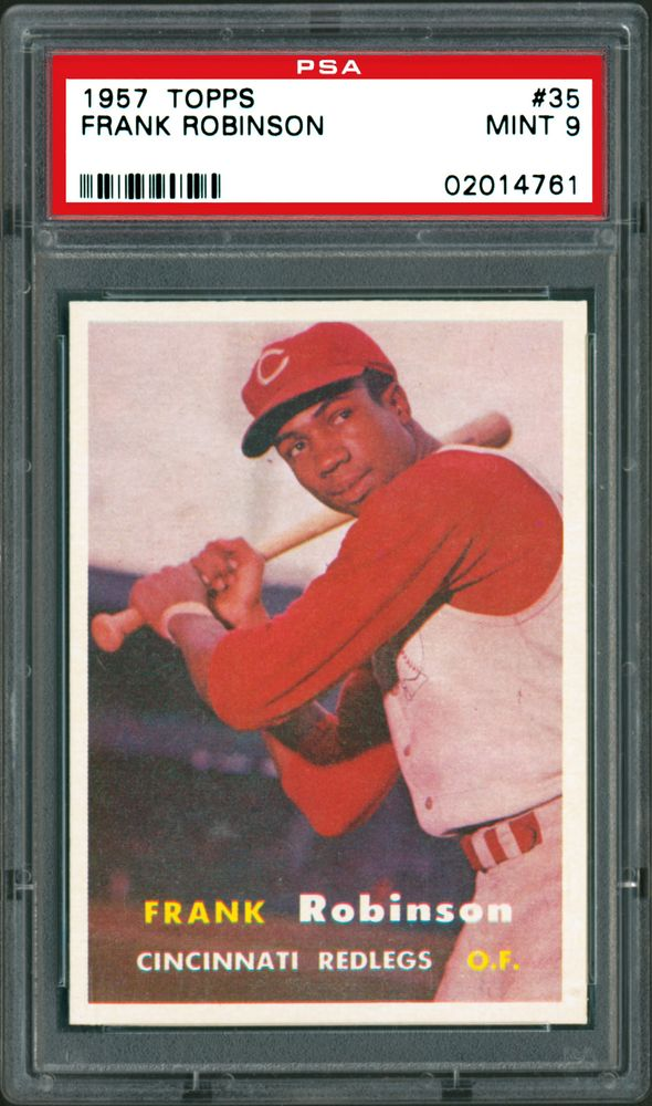Image result for frank robinson rookie baseball card