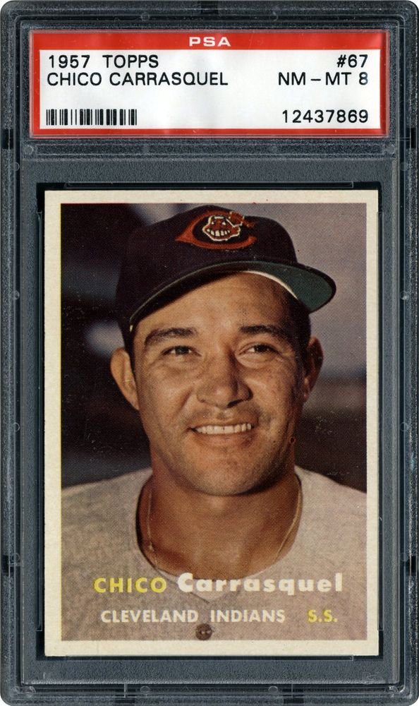 Chico Carrasquel 1957 Topps Chico Carrasquel PSA CardFacts