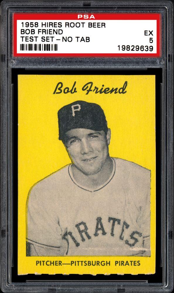 Baseball Cards 1958 Hires Root Beer Test Set Images