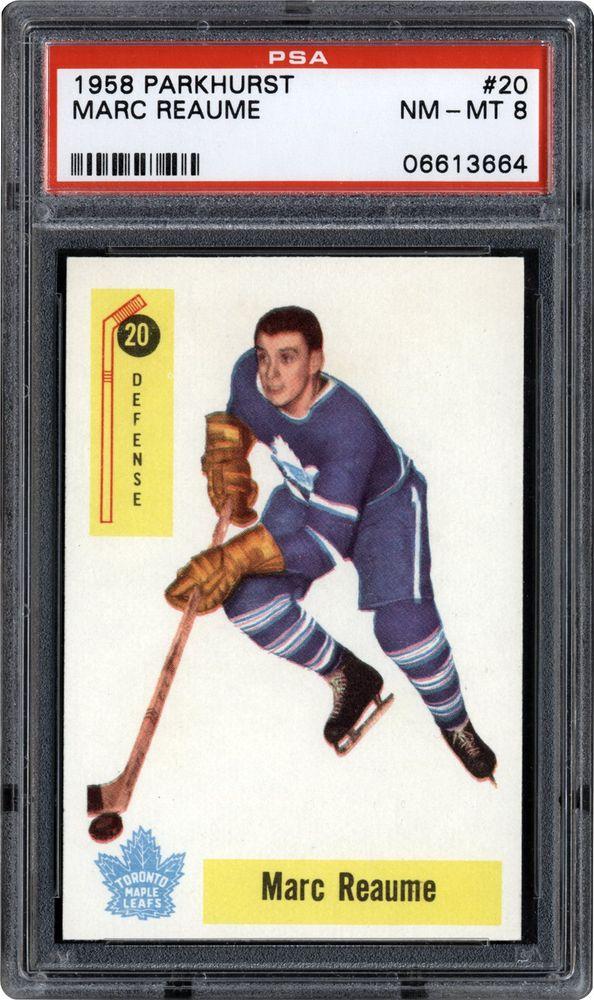 hockey cards - 1958 parkhurst