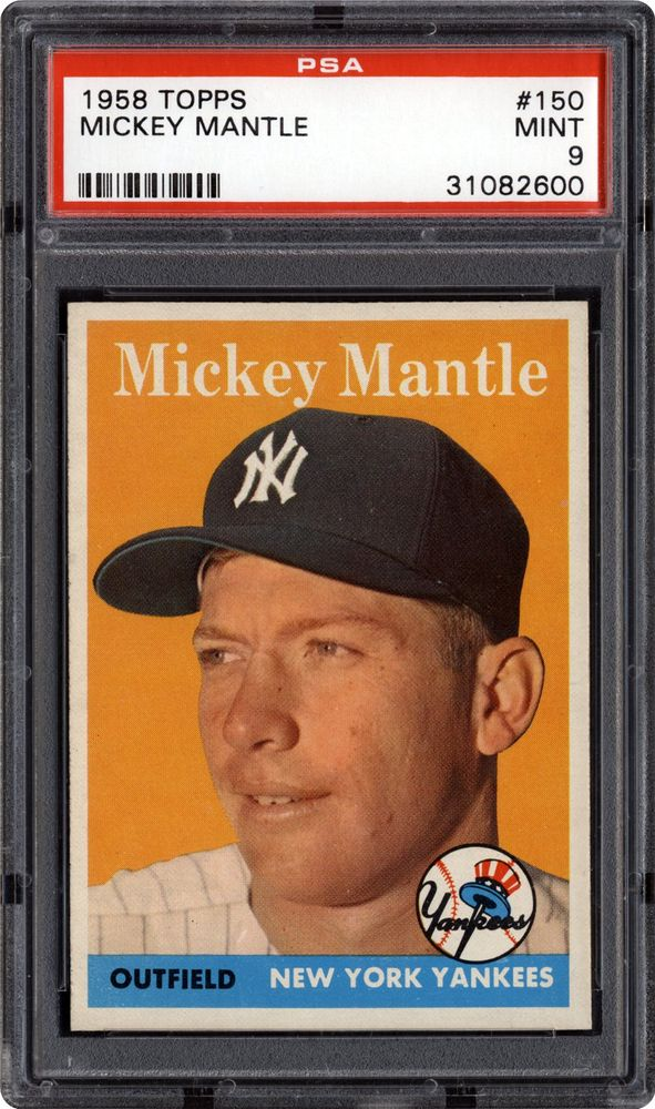 1958 Topps Mickey Mantle Psa Cardfacts
