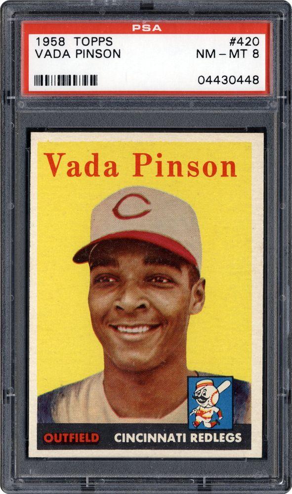 1958 topps vada pinson psa cardfacts