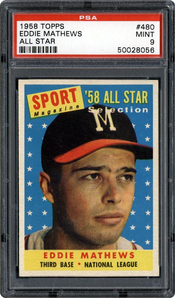 1958 Topps Eddie Mathews All Star Psa Cardfacts