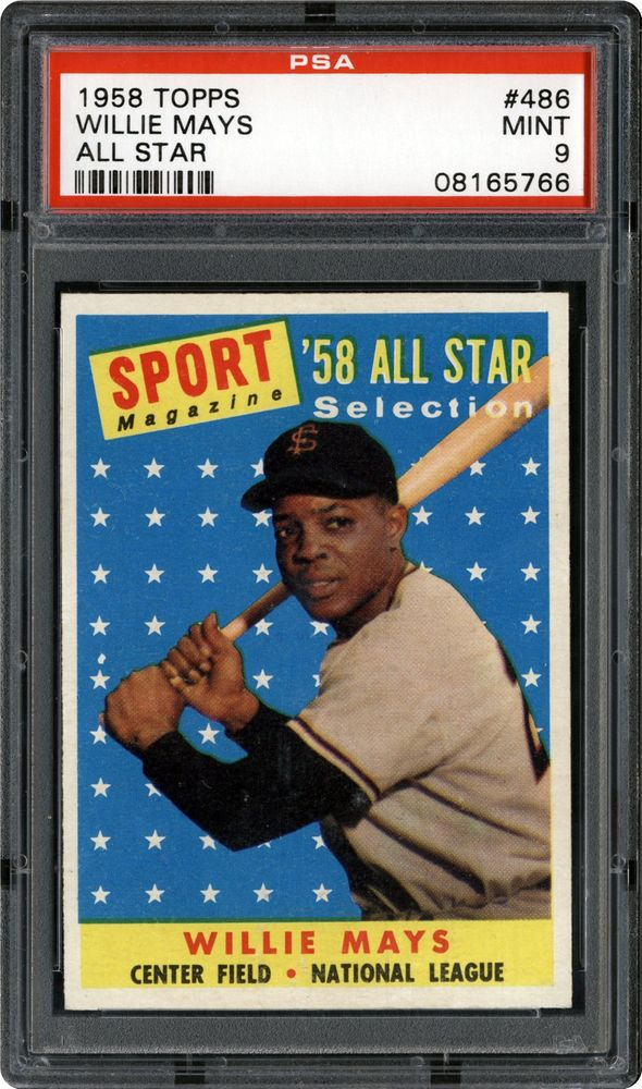 1958 Topps Willie Mays All Star Psa Cardfacts