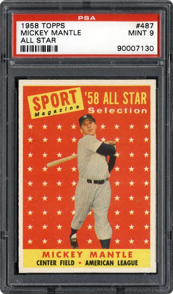 1958 Topps Mickey Mantle All Star Psa Cardfacts