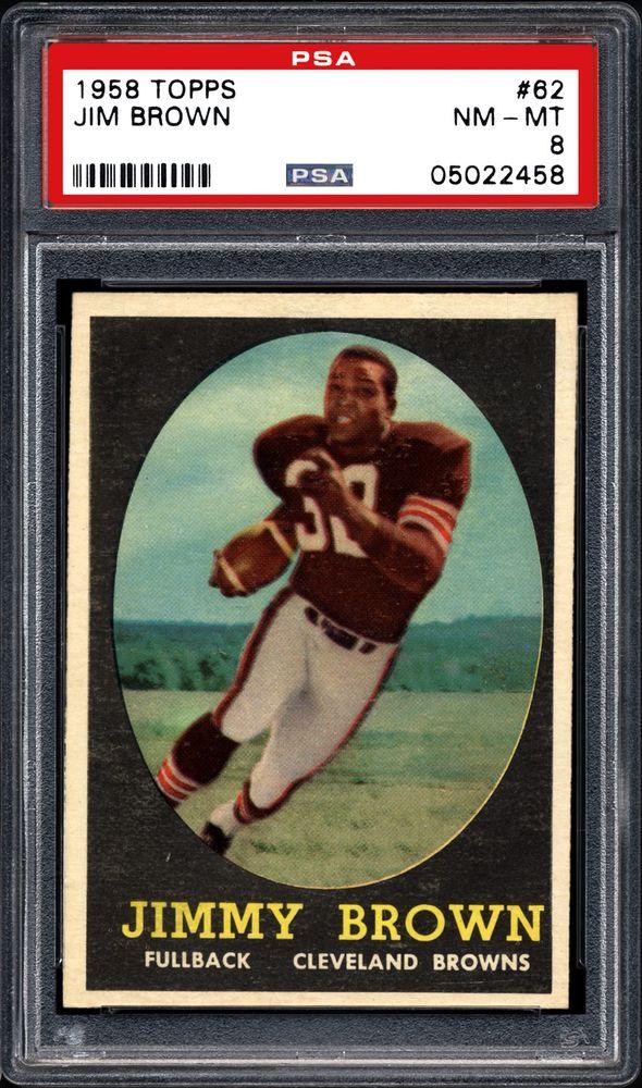 1958 Topps Jim Brown Psa Cardfacts