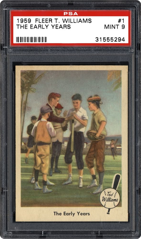 Baseball Cards 1959 Fleer Ted Williams Psa Cardfacts
