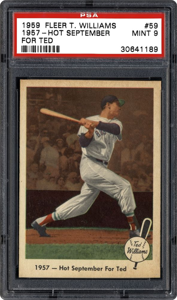 Auction Prices Realized Baseball Cards 1959 Fleer Ted