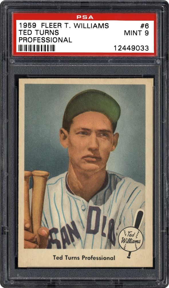 Baseball Cards 1959 Fleer Ted Williams Images Psa
