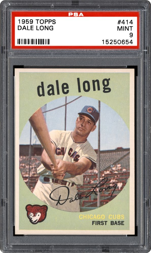 1959 Topps Dale Long Psa Cardfacts