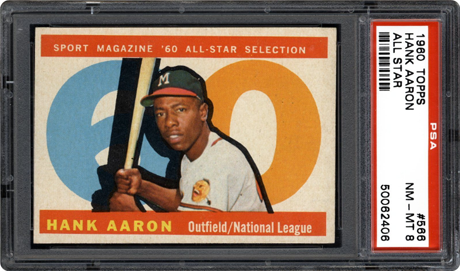 1960 Topps Hank Aaron All Star Psa Cardfacts